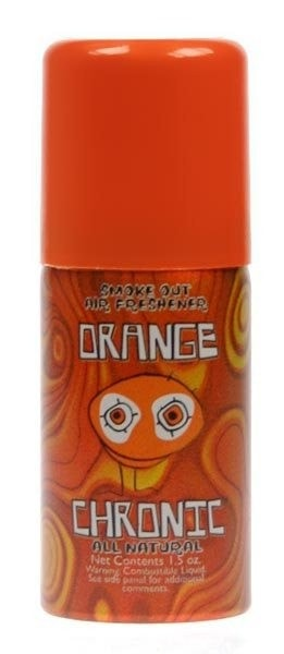 Orange Chronic Smoke Out Air Freshener - 1.5 oz - Brothers with Glass
