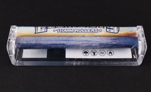 Elements King Size Plastic Rolling Machine - 110mm - Brothers with Glass - 2