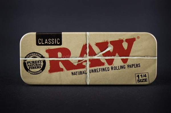 RAW Rolling Papers Cone Roll Caddy Tin Storage Box - Brothers with Glass - 1