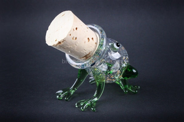 Heady Glass Random Color Stash Jar - Frog - Brothers with Glass - 1