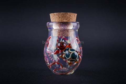 Heady Glass Random Color Stash Jar - Crawling Turtle - Brothers with Glass - 1