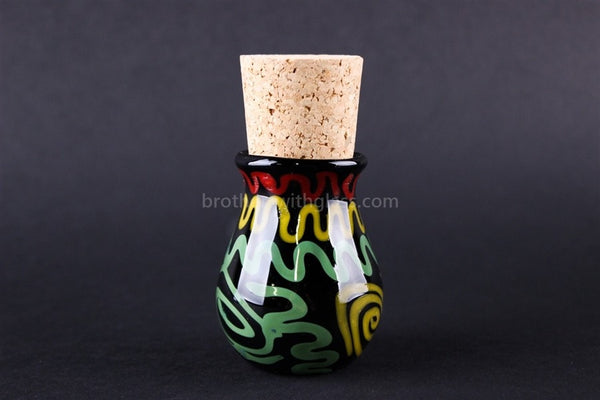 Heady Onyx Rasta Glass Stash Jar - Brothers with Glass - 1