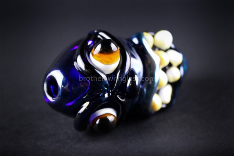 Lil Crazy Face Hand Pipe - Brothers with Glass - 1