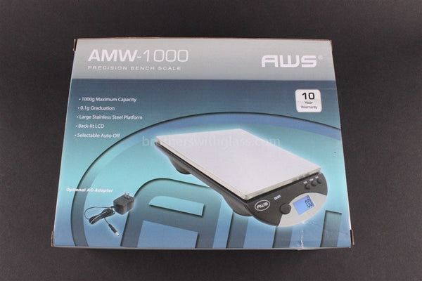American Weigh AMW-1000 Digital Bench Table Scale - Brothers with Glass - 1