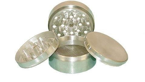 2.25 in Aluminum 4pc Grinder - Brothers with Glass