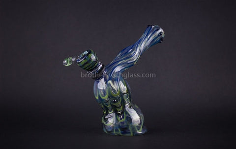 Aurora Glass Standing Worked Hammer Bubbler Water Pipe - Brothers with Glass - 1