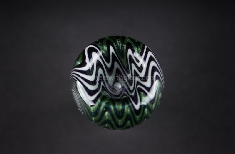 Bobby R Glass Wig Wag Water Pipe Slide - 14mm Green Smoke - Brothers with Glass - 2