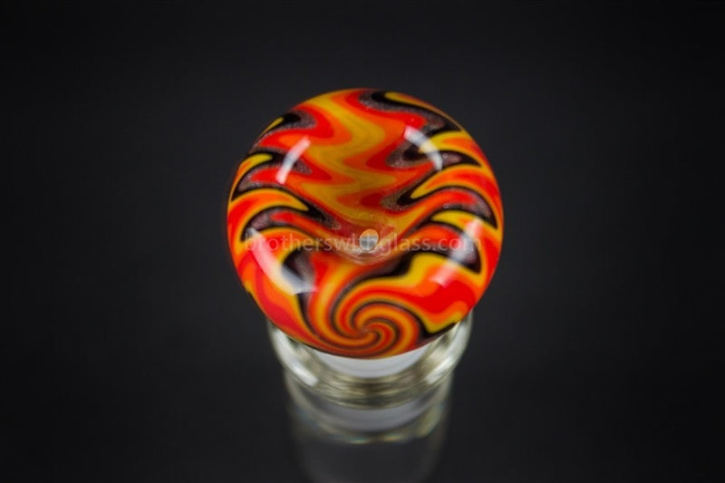 Bobby R Glass Wig Wag Water Pipe Slide - 18mm Fire - Brothers with Glass - 3
