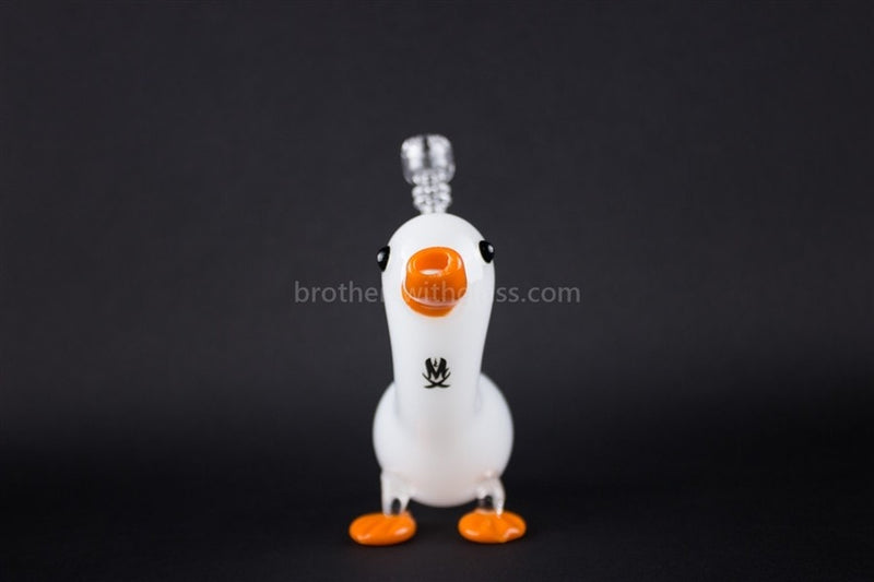 Mathematix Cute Little Duck Dab Rig - Classic White - Brothers with Glass - 2