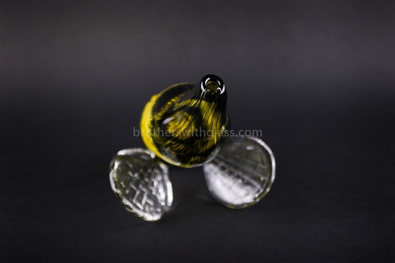 Chameleon Glass Heady Honey Bee Hand Pipe - Brothers with Glass - 4