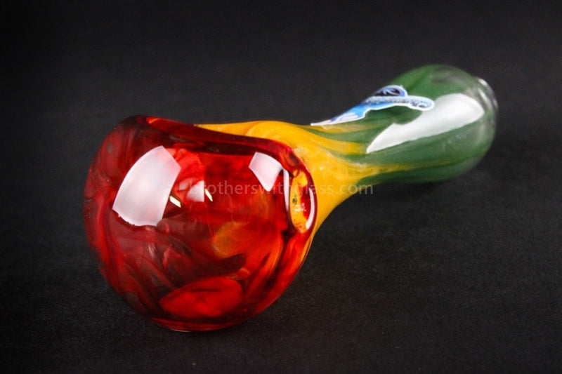 Chameleon Glass Flamethrower Hand Pipe - Rasta - Brothers with Glass - 2