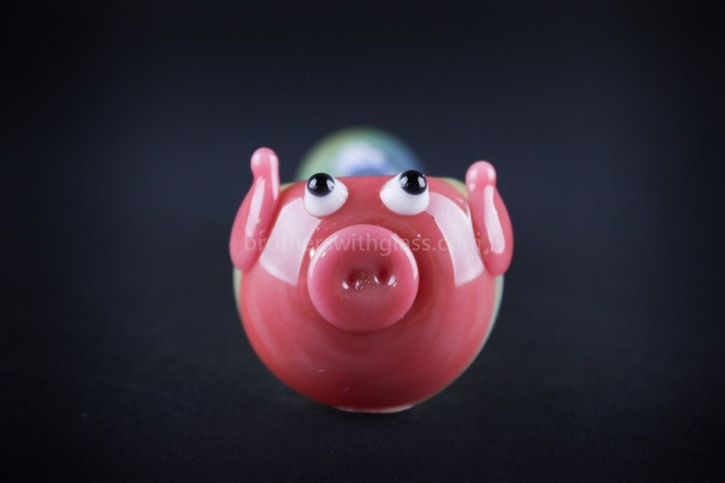 Chameleon Glass Little Piggy Pink Pipe - Brothers with Glass - 3
