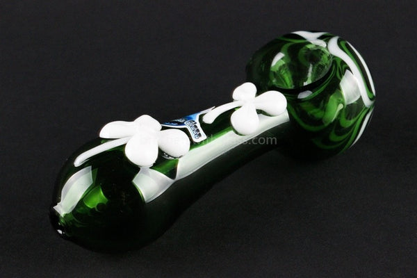 Chameleon Glass Lucky Charm Hand Pipe - Green - Brothers with Glass - 1