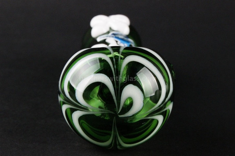 Chameleon Glass Lucky Charm Hand Pipe - Green - Brothers with Glass - 3