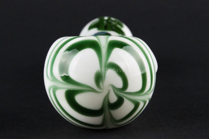 Chameleon Glass Lucky Charm Hand Pipe - White - Brothers with Glass - 3