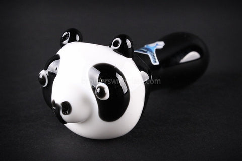 Chameleon Glass Panda Bear Hand Pipe - Brothers with Glass - 1