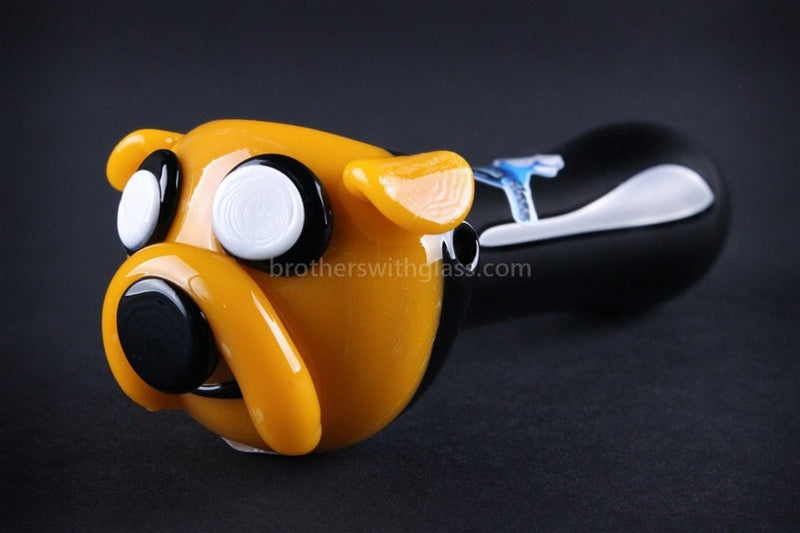 Chameleon Glass Jake the Dog Hand Pipe - Brothers with Glass - 1