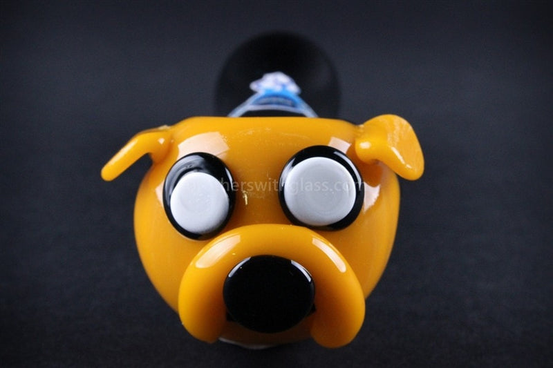 Chameleon Glass Jake the Dog Hand Pipe - Brothers with Glass - 3