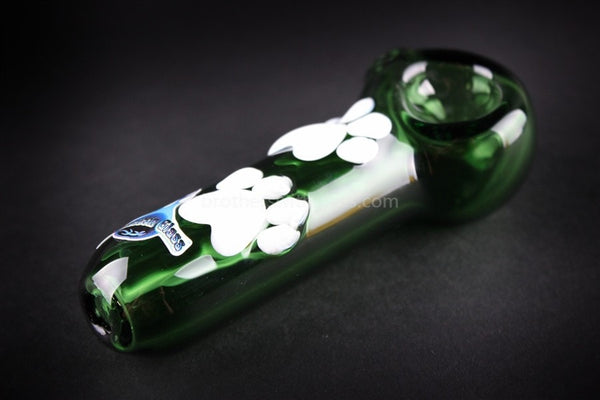 Chameleon Glass Tracks Hand Pipe - Green - Brothers with Glass - 1