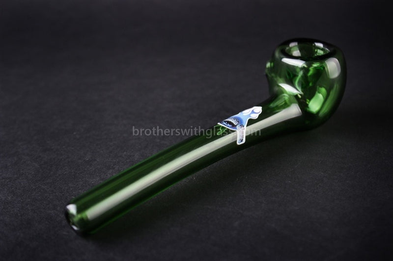 Chameleon Glass Aragorn's Briar Sherlock Hand Pipe - Green - Brothers with Glass - 2