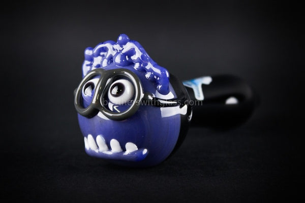 Chameleon Glass Evil Minion Hand Pipe - Brothers with Glass - 1