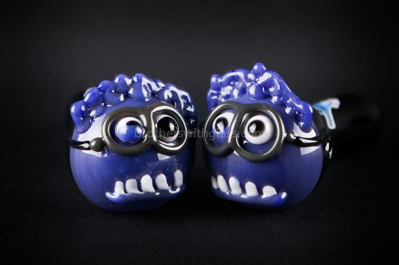 Chameleon Glass Evil Minion Hand Pipe - Brothers with Glass - 4