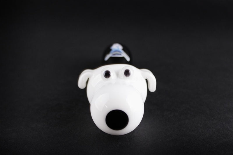 Chameleon Glass Brian the Dog Hand Pipe - Brothers with Glass - 2