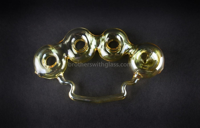 Chameleon Glass Fumed Glass Knuckles Hand Pipe - Brothers with Glass - 1