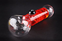Chameleon Glass Absolute Zero Coil Condenser Hand Pipe - Red - Brothers with Glass - 1