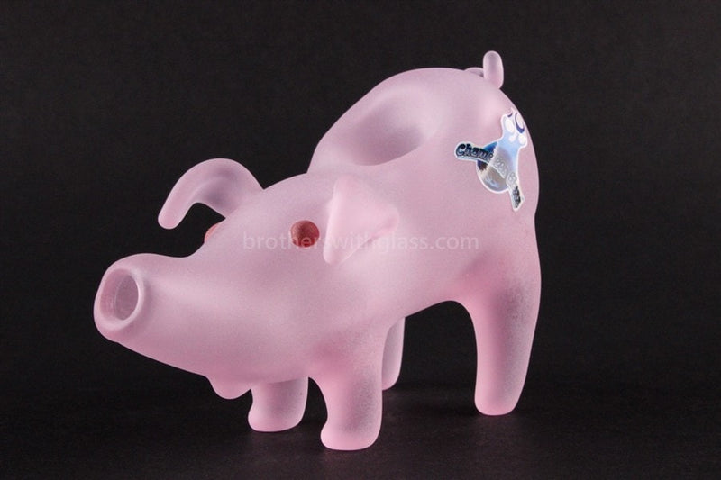 Chameleon Glass Deliverance Pig Hand Pipe - Brothers with Glass - 1