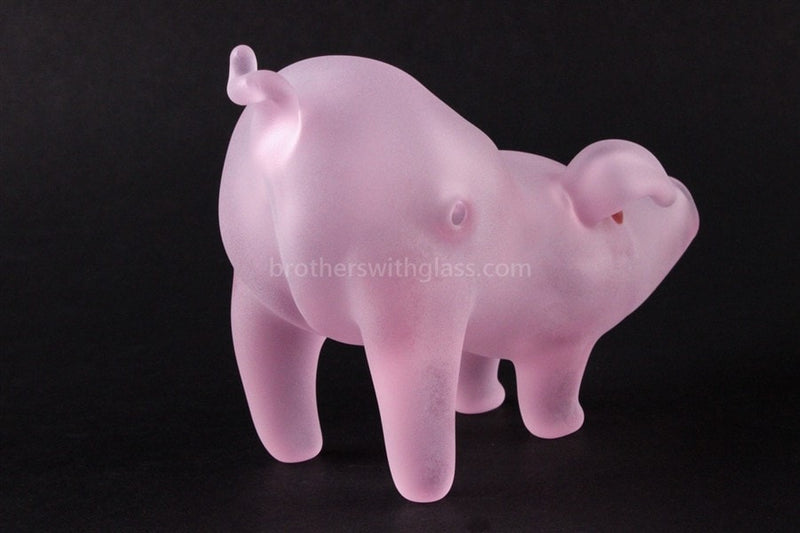 Chameleon Glass Deliverance Pig Hand Pipe - Brothers with Glass - 2