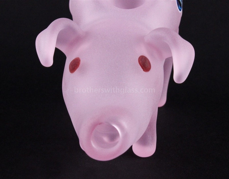 Chameleon Glass Deliverance Pig Hand Pipe - Brothers with Glass - 4