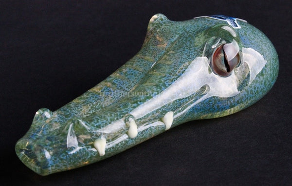 Chameleon Louis the Gator Hand Pipe - Brothers with Glass - 1