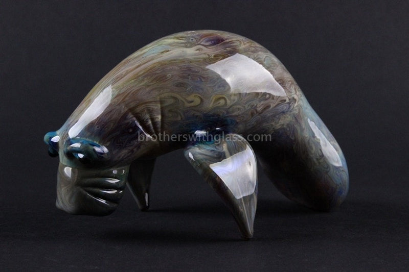 Chameleon Glass Manatee Glass Pipe - Brothers with Glass - 1