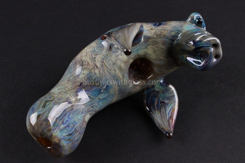 Chameleon Glass Manatee Glass Pipe - Brothers with Glass - 3