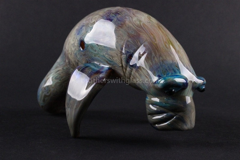 Chameleon Glass Manatee Glass Pipe - Brothers with Glass - 4