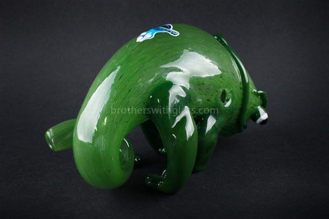 Chameleon Glass Hand Sculpted Panther Chameleon Hand Pipe - Brothers with Glass - 2