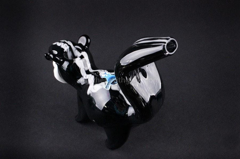 Chameleon Glass Hand Sculpted Pepe Le Pew Skunk Hand Pipe - Brothers with Glass - 2