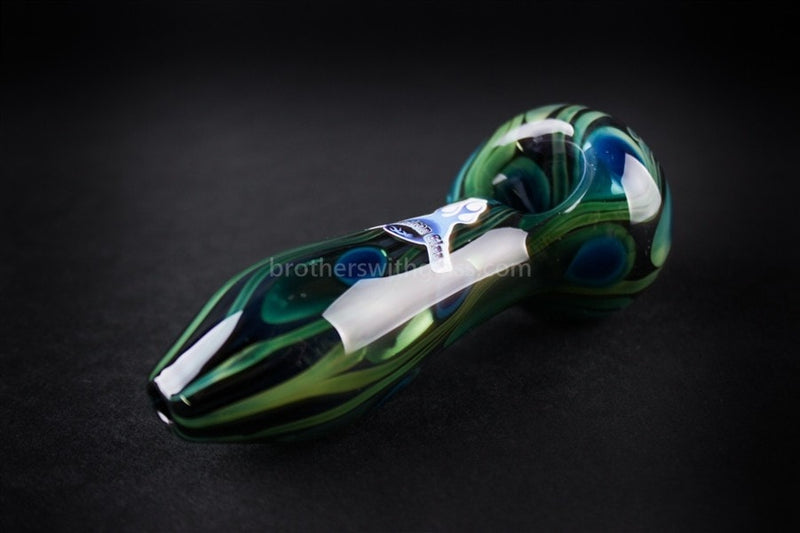 Chameleon Glass Safari Series Hand Pipe - Peacock - Brothers with Glass - 1
