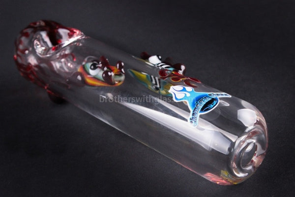 Chameleon Glass Redding Dragon Steamroller Hand Pipe - Brothers with Glass - 1