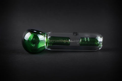 Chameleon Glass Spill Proof Jr Monsoon Spubbler Water Pipe - Green - Brothers with Glass - 1