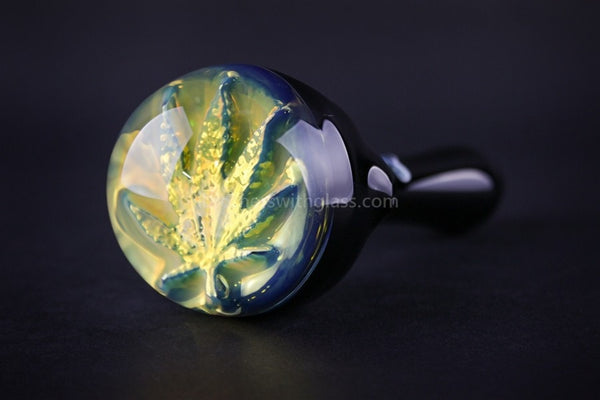Chameleon Glass Introvert Hand Pipe - Leaf - Brothers with Glass - 1