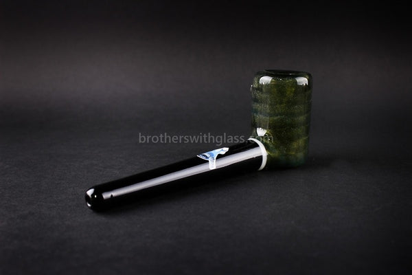 Chameleon Glass The Vern Traditional Style Hand Pipe - Mighty Moss - Brothers with Glass - 1