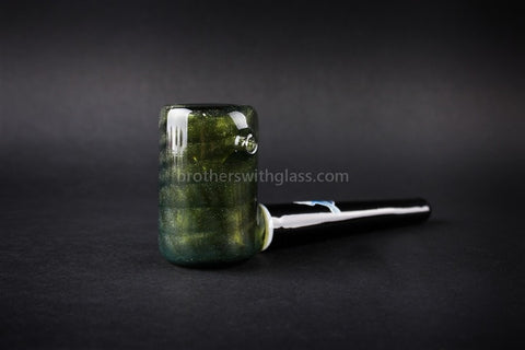Chameleon Glass The Vern Traditional Style Hand Pipe - Mighty Moss - Brothers with Glass - 2