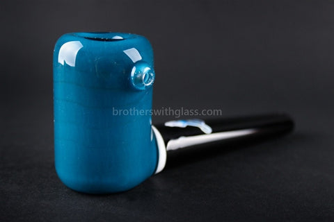 Chameleon Glass The Vern Traditional Style Hand Pipe - Agua Azul - Brothers with Glass - 1