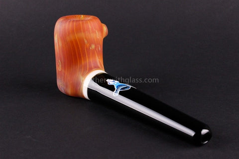 Chameleon The Vern Traditional Style Sandblasted Hand Pipe - Brothers with Glass - 2