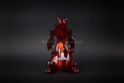 Chameleon Glass Smaug Dragon 14mm Water Pipe - Brothers with Glass - 2