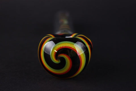 Chameleon Glass Heady Spill Proof Monsoon Spubbler Water Pipe - Rasta Spiral - Brothers with Glass - 3