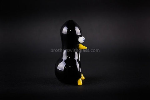 Chameleon Glass Sculpted Bird Hand Pipe - Chilly Willy Penguin - Brothers with Glass - 2