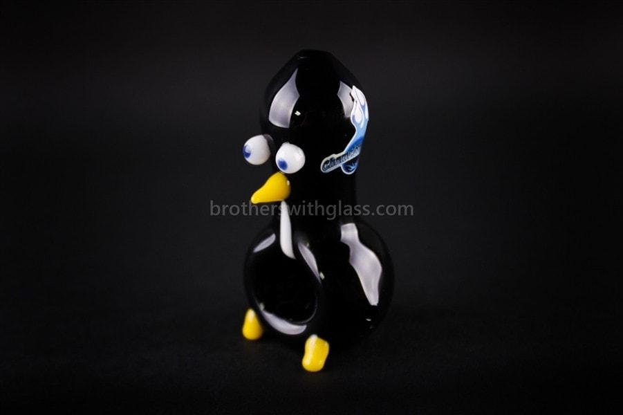 chameleon glass sculpted bird hand pipe chilly willy